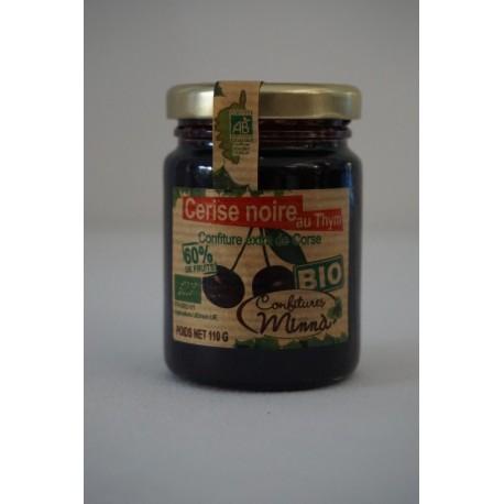 Confiture Minna Bio de cerises noires et au thym