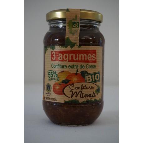 Confiture Minna Bio - 3 agrumes