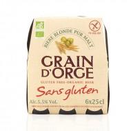 Grain d'orge blonde pure malt bio sans gluten 5,5°