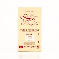 AOC Côtes du Rhône rouge Domaine Le Chapelier fruité 2015 biologique