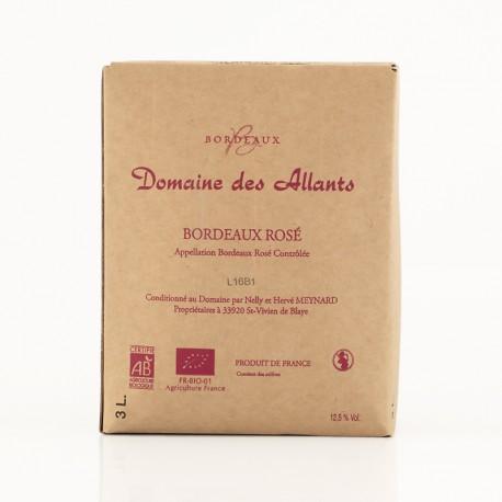 AOC Bordeaux rosé Domaine des Allants 2014 biologique