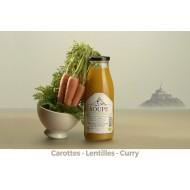 Soupe du Mont Carottes - Lentilles corail - Curry